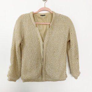 Topshop Mesh Crochet Rhinestone Cardigan 2 #4625